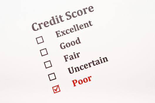 Credit score form