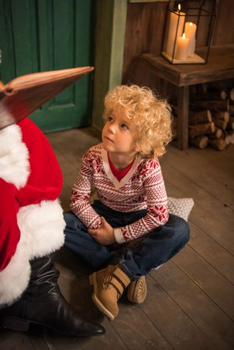 Kid listening fairy story