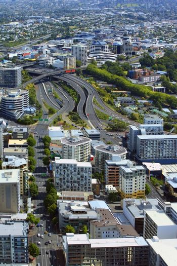 Top view of the Auckland of New Zealand