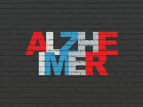 Health concept: Alzheimer on wall background