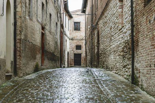 Narrow street in Fabriano