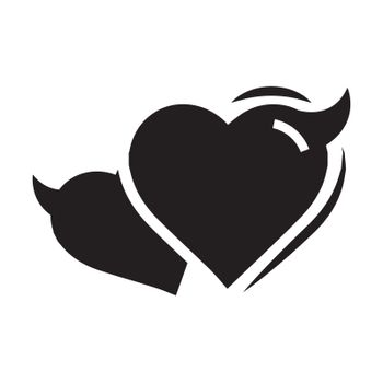 Two Heart of Devil love black color