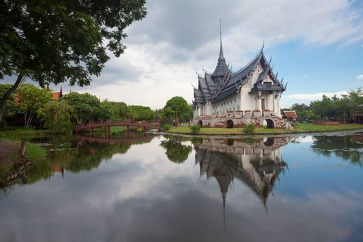 Ancient city,Temple of Thailand on sunset