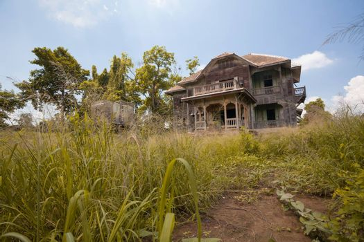 abandoned old house at day