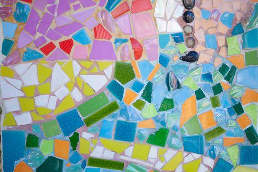 ceramic pattern broken tile wall background