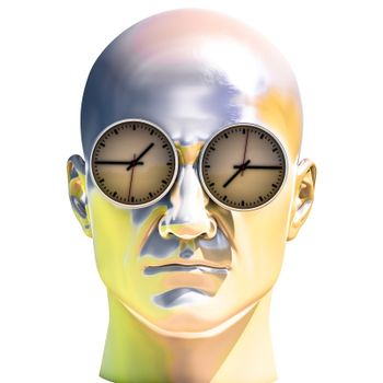3d Portrait of Worried Stressed Overwhelmed Man