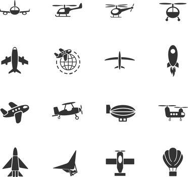 air transport icon set
