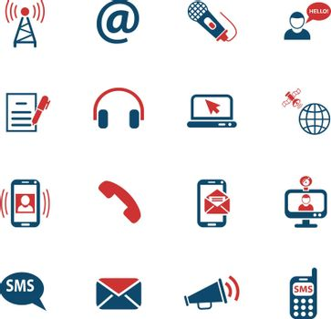 communication web icons for user interface design