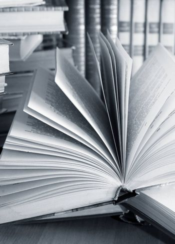 The image of the open book close-up