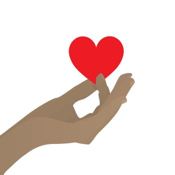 Hand hold the heart. Love protection, preservation