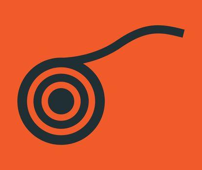 Circular abstract design. AI 10 supported.