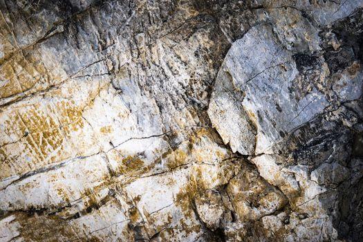 abstract pattern on limestone rock