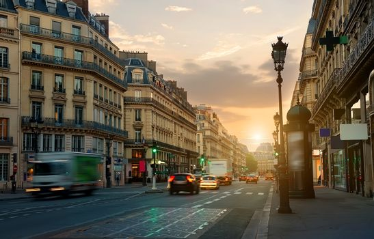 Wide street in Paris