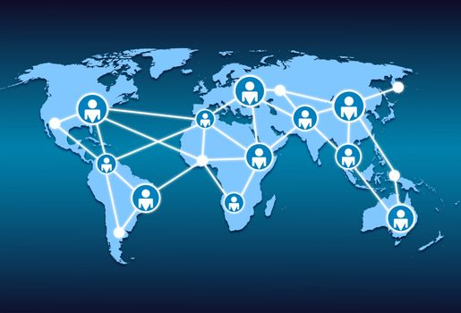 world map and world wide web