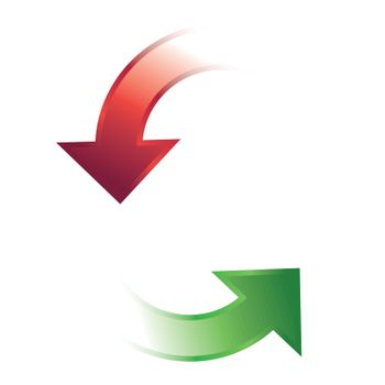 Rounded Direction Arrows Icon