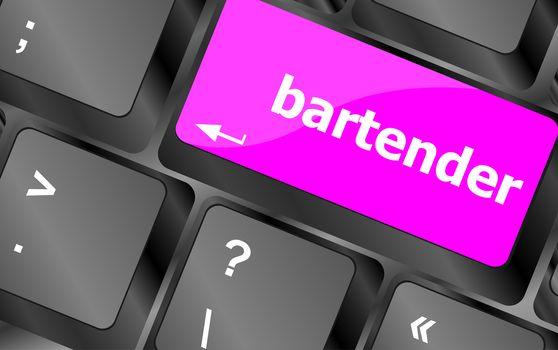 message bartender on enter key of keyboard
