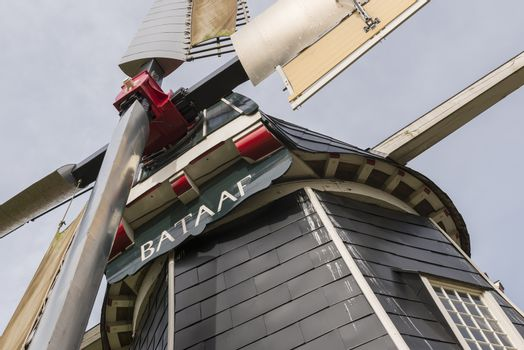 Historic corn mill Bataaf in Winterswijk in the Netherlands
