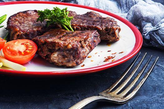 juicy veal steak