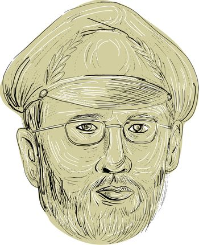 Turkish General Head Drawing