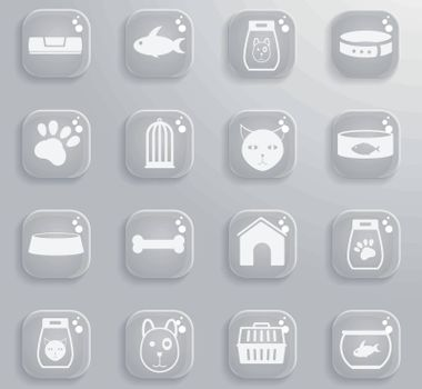 Goods for pets icons for web and user interfaces