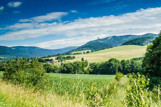 Czech landcape mountains