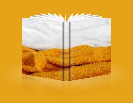 book of dual color background of sponge
