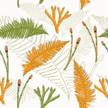 Seamless texture in eco style. Vector illustration EPS8