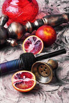 Shisha with orange taste