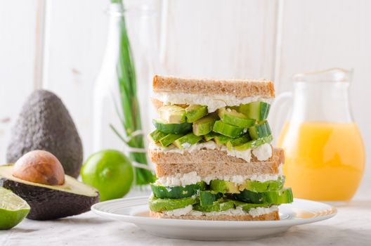 Bio healthy sandwich