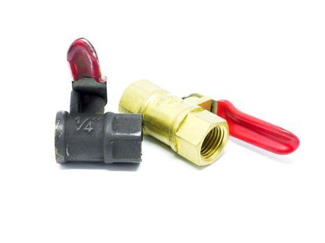 Brass ball valve.