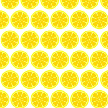 lemon seamless pattern white background - vector illustration. eps 8