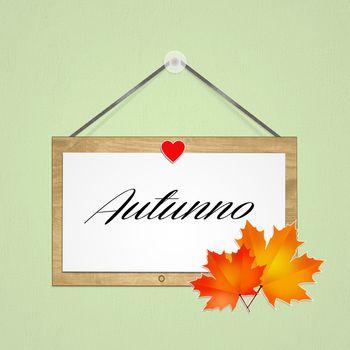 illustration of autumn sign