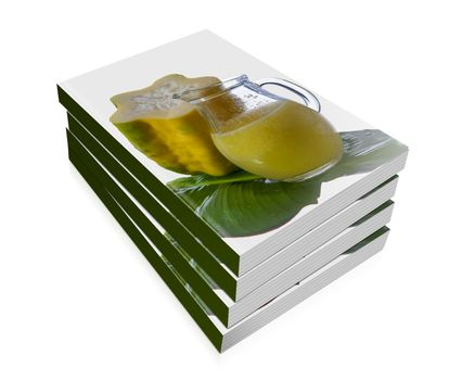 book of  babaco  and a babaco juice