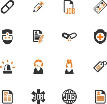 Job icon set for web sites and user interface