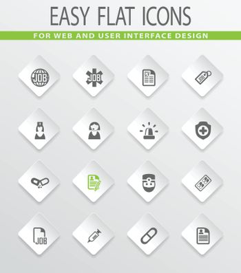 Job easy flat web icons for user interface design