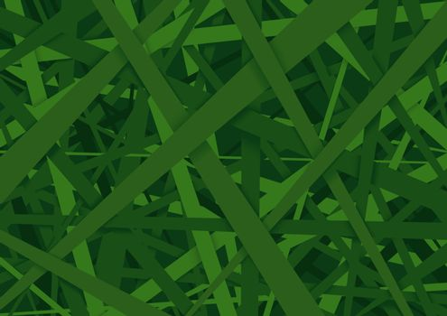 Green Striped Texture Background - Abstract Illustration with 3D optical Illusion, Vector