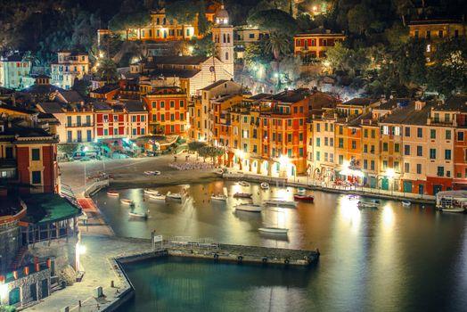 Portofino Harbour at Night
