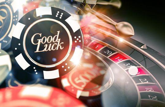 Roulette Good Luck Concept
