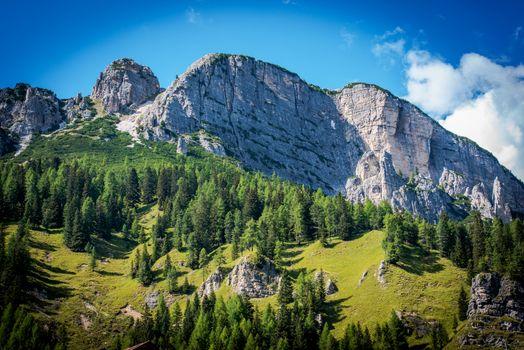 Summer in Dolomites Scenery