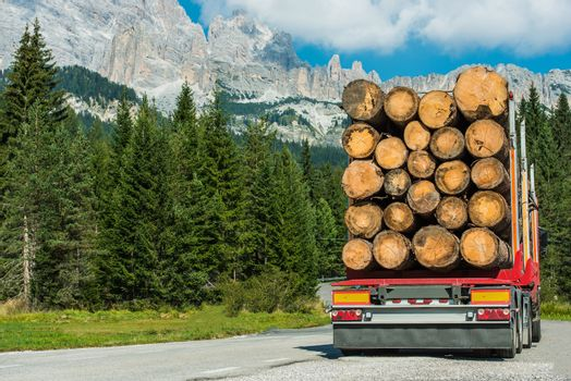 Timber Lumber Truck Delivery