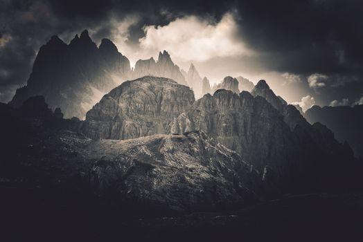 Dolomites Peaks Scenery
