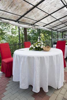 a weddin table in the Tercesi castle