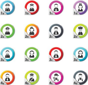 Occupation and People icons set