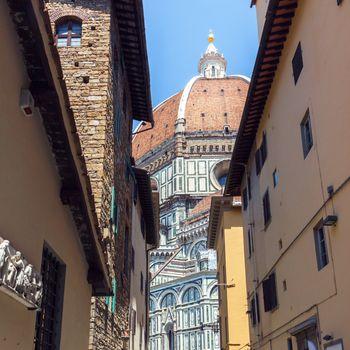 Detail of Duomo Santa Maria Del Fiore in Florence, Tuscany, Italy