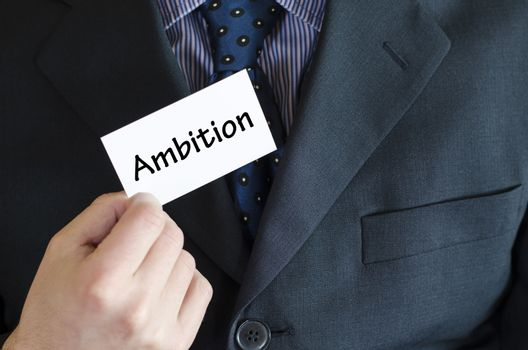 Ambition text concept