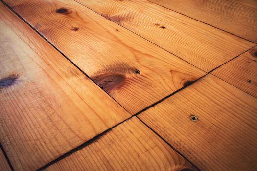 detail of spruce old wood floor