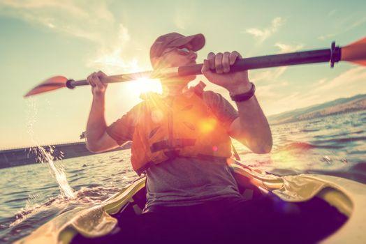 Recreational Kayaking on Lake