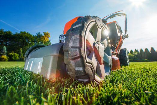 Modern Gasoline Lawn Mower