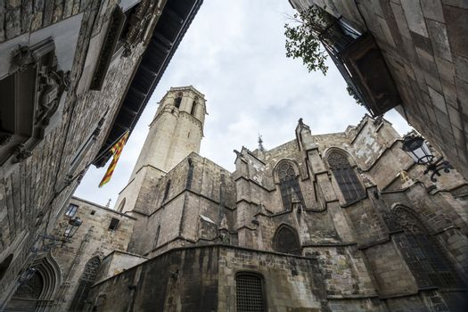 The Cathedral of the Holy Cross and Saint Eulalia, Barcelona, Sp