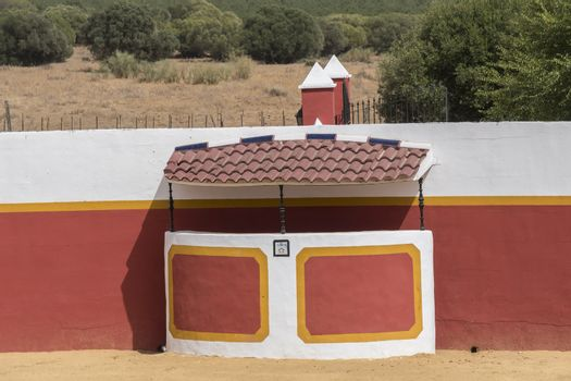 Bullring in the countryside in Seville, Spain